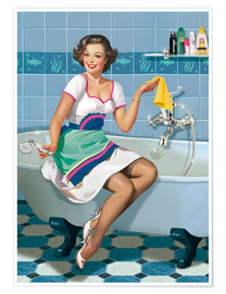 Poster  the woman in a bathroom - Tanja Doronina
