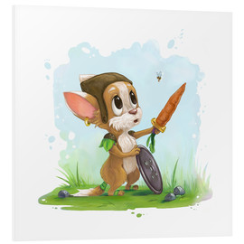 Forex  Mouse fox with bee Fairy-tale illustration gift idea nursery - Alexandra Knickel