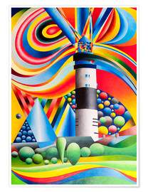 Poster Premium Sylt, Lighthouse Kampen