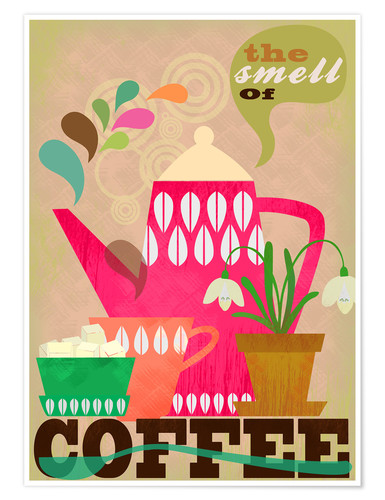 Poster Premium The smell of coffee