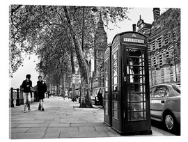 Stampa su vetro acrilico  Streets of London - Städtecollagen
