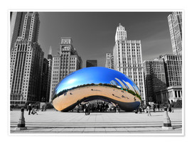 Poster  Chicago Bean - HADYPHOTO by Hady Khandani
