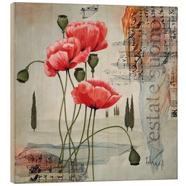 Stampa su legno  Poppies - Franz Heigl