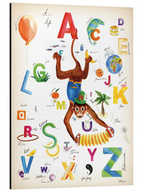 Stampa su alluminio  ABC Alphabet animals, colours and more - Heike Udes