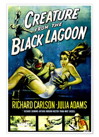 Poster Premium  CREATURE FROM THE BLACK LAGOON
