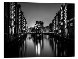 Forex  Hamburg HafenCity quarter by night (monochrome) - Sascha Kilmer