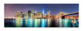 Poster Premium  New York City Skyline, panoramic view - Sascha Kilmer