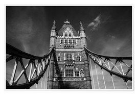 Poster Premium London Tower Bridge monochrome