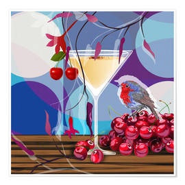 Poster Premium Vintage Birdy Cocktail IV