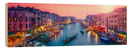 Stampa su legno  Venice panorama at sunset - Jan Christopher Becke