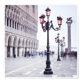Poster Premium St. Mark's Square in Venice in Winter