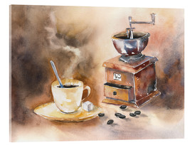 Stampa su vetro acrilico  The smell of coffee - Jitka Krause