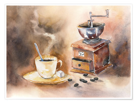 Poster Premium  The smell of coffee - Jitka Krause