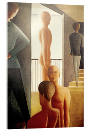 Vetro acrilico  Five men in the room - Oskar Schlemmer