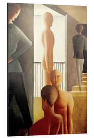 Alluminio Dibond  Five men in the room - Oskar Schlemmer