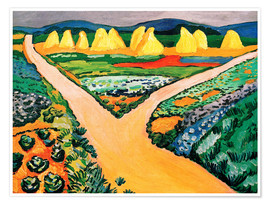 Poster Premium  Vegetable Fields - August Macke