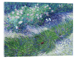 Stampa su vetro acrilico  Butterflies and Flowers - Vincent van Gogh