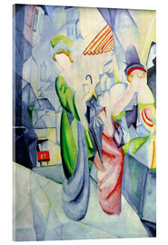 Stampa su vetro acrilico  Women in front of a hat shop - August Macke
