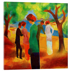 Stampa su vetro acrilico  Lady in a green jacket - August Macke
