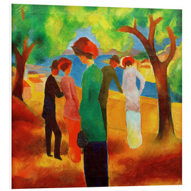 Stampa su schiuma dura  Lady in a green jacket - August Macke
