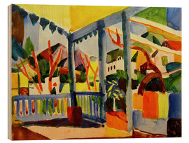 Stampa su legno  Terrace of the country house in St. Germain - August Macke