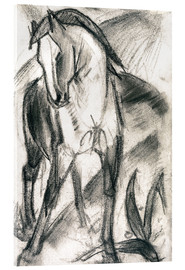 Vetro acrilico  Young Horse in Mountain Landscape - Franz Marc