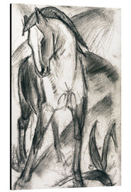 Alluminio Dibond  Young Horse in Mountain Landscape - Franz Marc