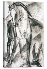 Tela  Young Horse in Mountain Landscape - Franz Marc