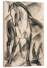 Legno  Young Horse in Mountain Landscape - Franz Marc