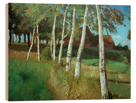Stampa su legno  Birches in the marsh - Otto Modersohn