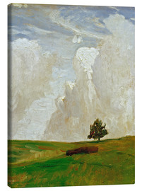 Stampa su tela  Mountains of clouds - Otto Modersohn