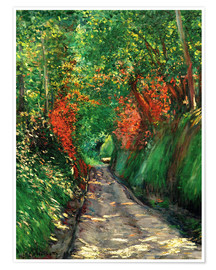 Poster Premium  Strada forestale - Gustave Caillebotte