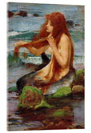 Stampa su vetro acrilico  Una sirena - John William Waterhouse