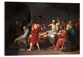 Vetro acrilico  Morte di Socrate - Jacques-Louis David
