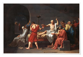 Poster Premium  Morte di Socrate - Jacques-Louis David