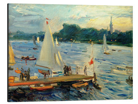 Alluminio Dibond  Sailboats on the Alster Lake in the evening - Max Slevogt