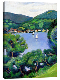 Stampa su tela  View of Tegernsee lake - August Macke