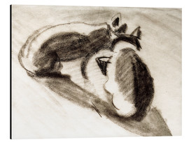 Stampa su alluminio  The Cats of Franz Marc - August Macke