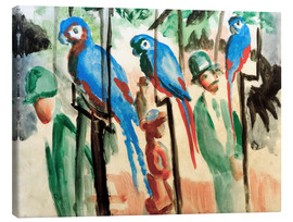 Stampa su tela  Among the parrots - August Macke