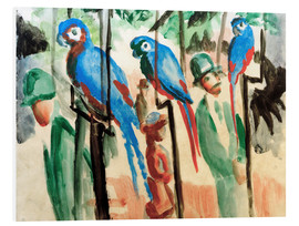Stampa su schiuma dura  Among the parrots - August Macke