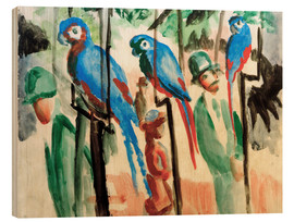 Legno  Among the parrots - August Macke