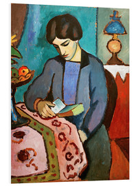 Stampa su schiuma dura  Elizabeth, reading - August Macke
