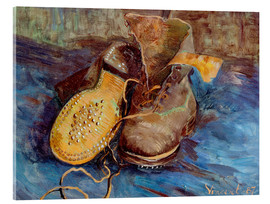 Vetro acrilico  The Shoes - Vincent van Gogh