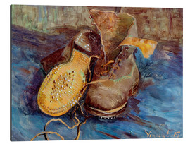 Stampa su alluminio  The Shoes - Vincent van Gogh