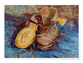 Poster Premium  The Shoes - Vincent van Gogh