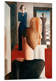 Vetro acrilico  Five figures in a space (Roman) - Oskar Schlemmer