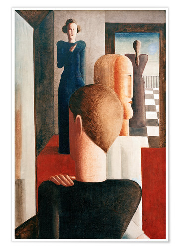Poster Premium Five figures in a space (Roman)