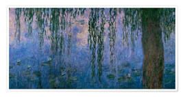 Poster Premium Lily pond with Weeping Willow