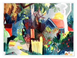 Poster Premium  Landscape with Bright Tree - August Macke