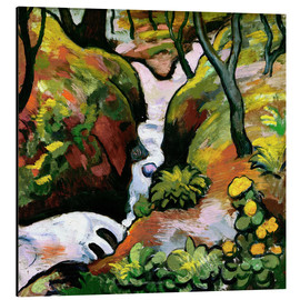 Stampa su alluminio  Forest Brook - August Macke